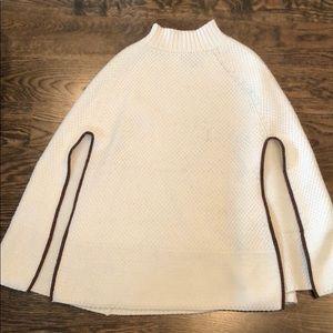 Ralph Lauren cape with brown edging
